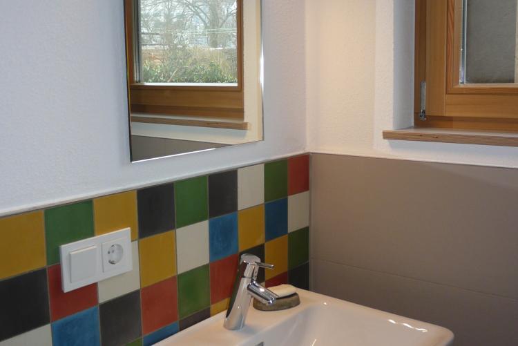 neubauinstallation eines einfamilienhauses in lindau - Farbakzente Interieur Einfamilienhaus
